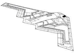 Самолеты распечатать раскраску - Бомбардировщик Нортроп Б-2 Спирит