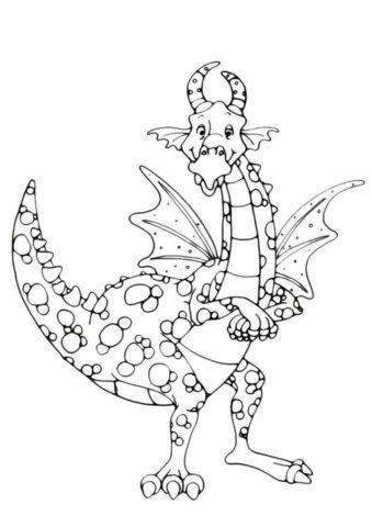 Разукрашка Бородавчатый дракон распечатать и скачать - Драконы
