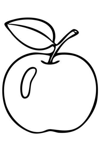 Боровинка (Яблоко) бесплатная раскраска
