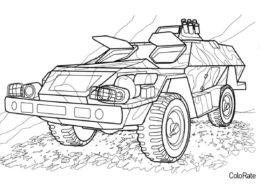 Бесплатная разукрашка для печати и скачивания БПМ-97 - Военные