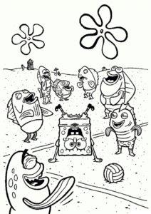 Брейк-данс от Губки Боба (Губка Боб) раскраска для печати и загрузки