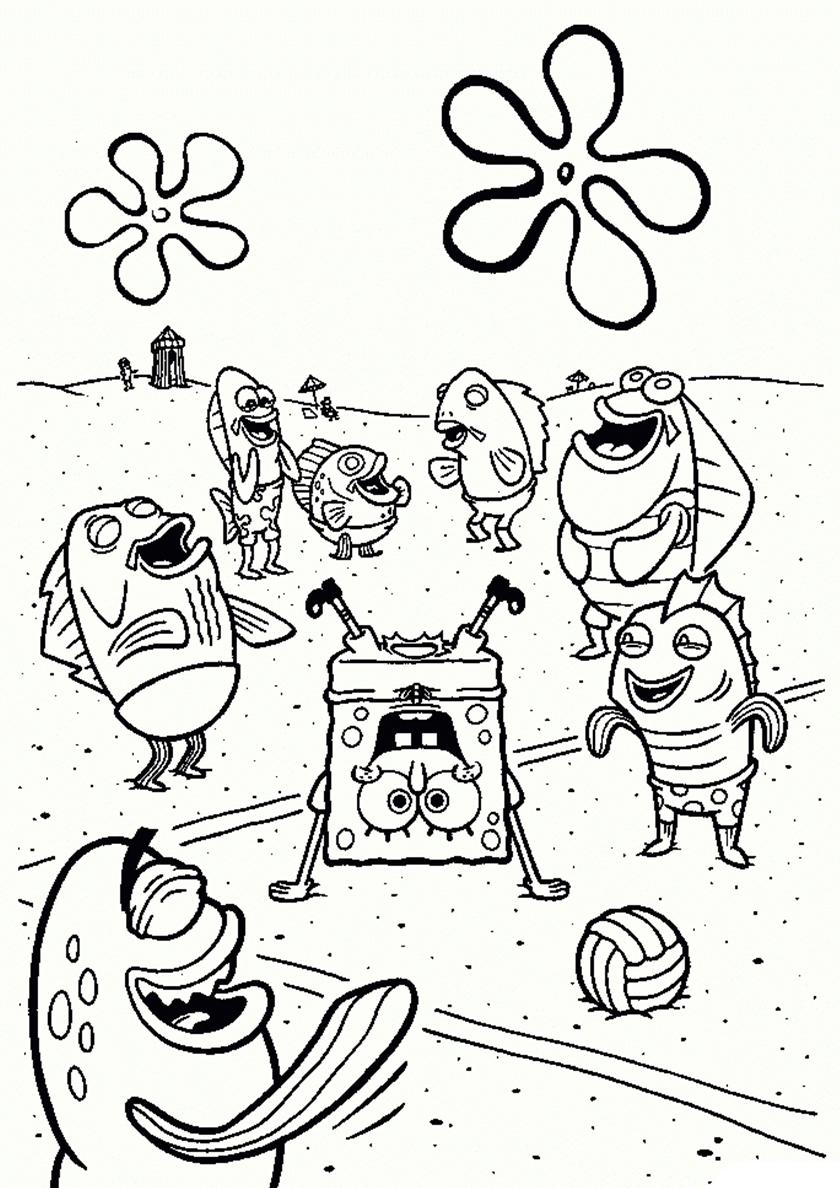 Раскраска Брейк-данс от Губки Боба распечатать | Губка Боб