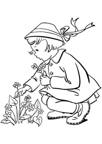 Бесплатная раскраска Букет из полевых цветов распечатать на А4 и скачать - Весна