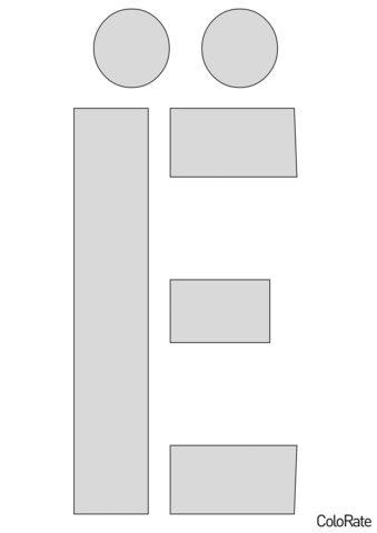 Буква Ё - Русский алфавит распечатать трафарет для вырезания бесплатно - Трафареты букв
