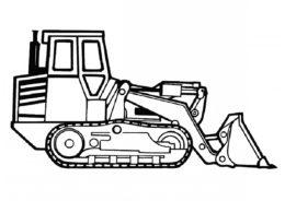 Бульдозер в профиль (Трактора) распечатать разукрашку