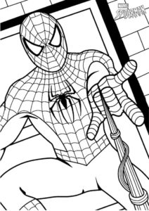 Разукрашка - Человек-паук MARVEL