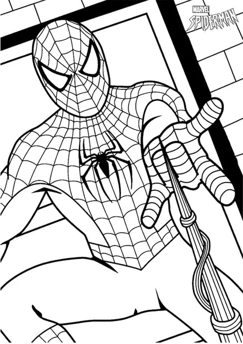 раскраска маска человека паука распечатать человек паук