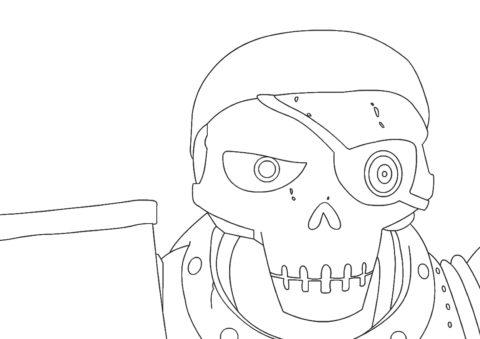 Зак Шторм распечатать раскраску на А4 - Член армии скелетов