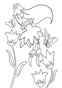 Цветочная фея (Весна) распечатать разукрашку