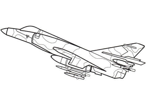 Раскраска Дассо Этандар VI - Самолеты
