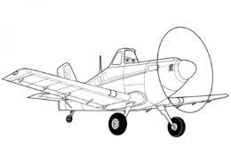 Бесплатная разукрашка для печати и скачивания Дасти Полейполе - Самолеты