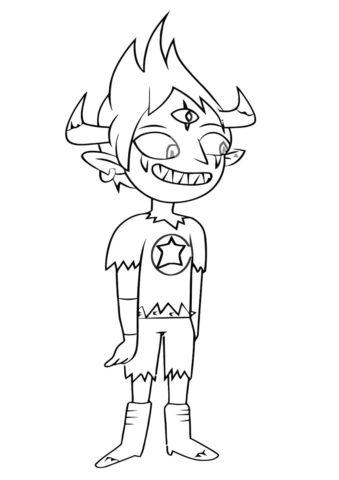 Демон Том (Стар против сил зла) раскраска для печати и загрузки