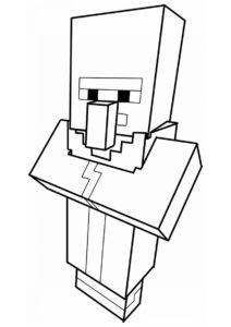 Деревенский житель (Майнкрафт) раскраска для печати и загрузки