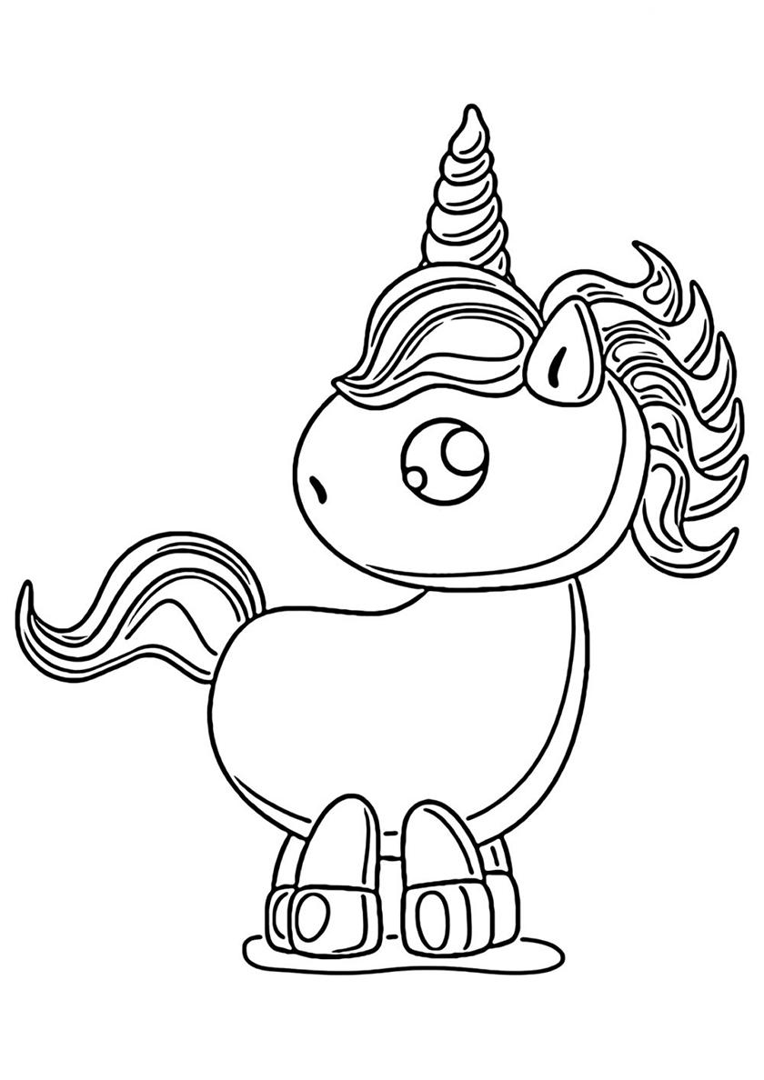 Раскраска Детский рисунок распечатать | Единороги