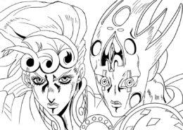 Раскраска Джорно Джованна - Невероятные приключения ДжоДжо