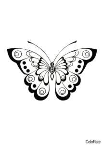 Дневной павлиний глаз распечатать и скачать шаблон - Трафареты бабочек