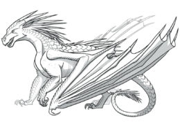Драконы распечатать раскраску на А4 - Древний дракон