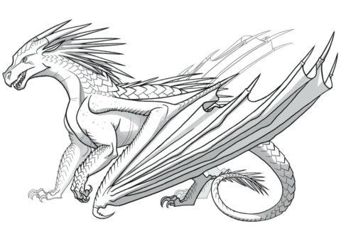 Раскраска Древний дракон распечатать | Драконы