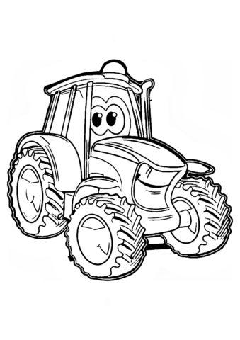 Разукрашка Друг фермера распечатать на А4 и скачать - Трактора