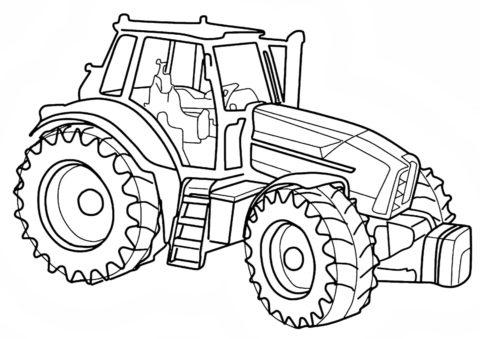 Друг тракториста (Трактора) распечатать раскраску