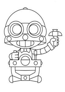 Браво Старс распечатать раскраску - Дружелюбный робот