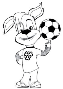 Барбоскины распечатать раскраску - Дружок и футбольный мяч