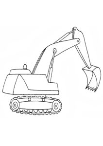 Раскраска Экскаватор распечатать и скачать - Трактора