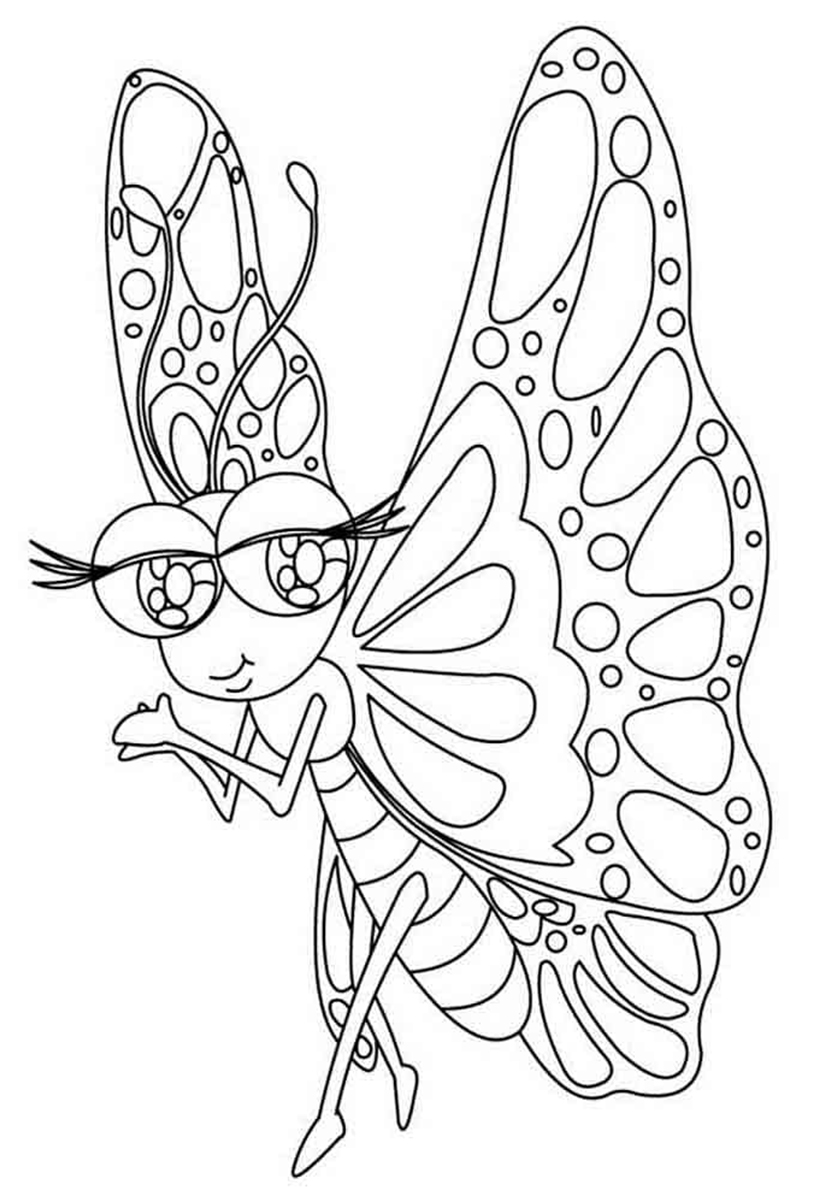 Картинки из раскрасок про бабочек