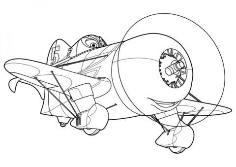 Бесплатная раскраска Эль Чупакабра распечатать на А4 и скачать - Самолеты