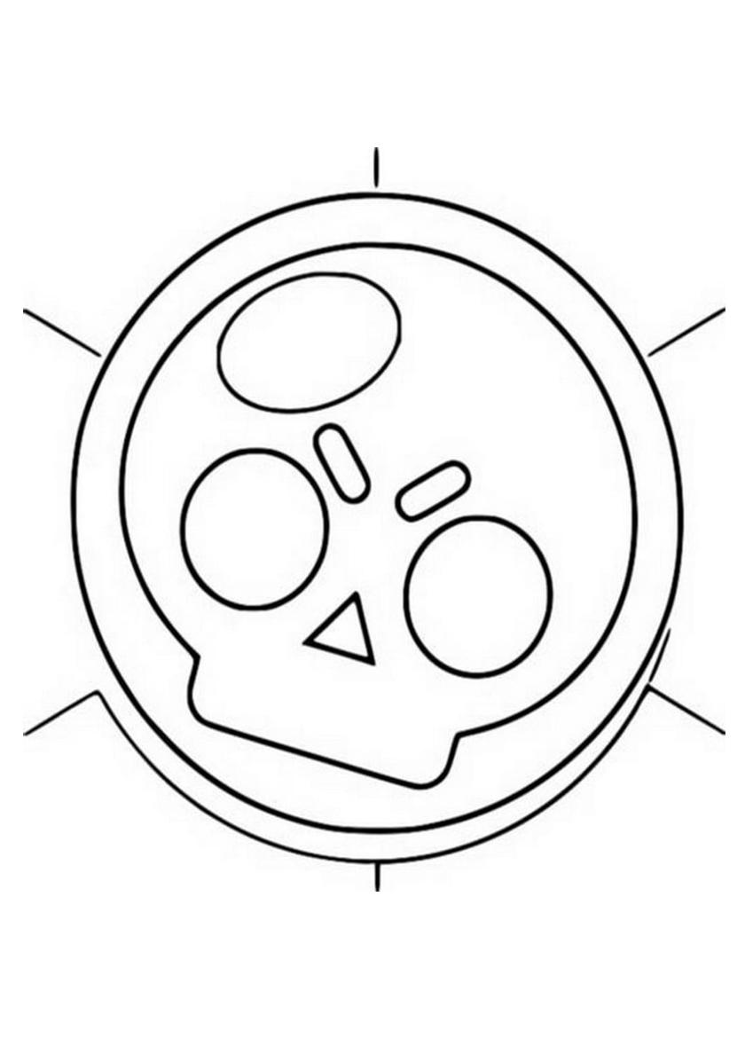 Раскраска Эмблема Brawl-Stars распечатать | Браво Старс