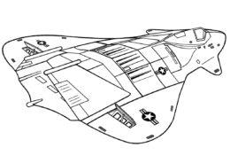 Раскраска F-19 Самолет-невидимка - Самолеты
