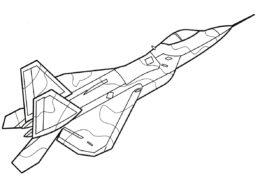 Самолеты бесплатная разукрашка - F-22 Раптор