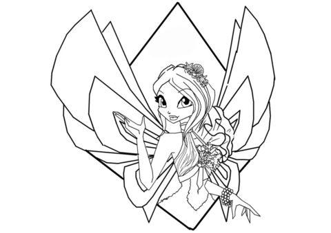 Раскраска Фея-хранительница Зенита - Текна