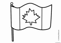 Флаги и гербы бесплатная разукрашка - Флаг Канады