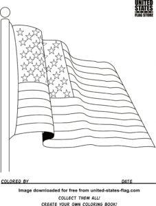 Флаг США - Флаги и гербы бесплатная раскраска