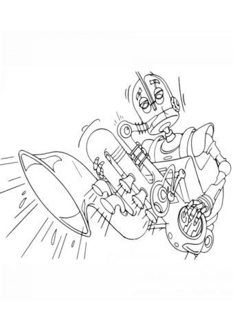 Герб Коперботтом распечатать и скачать раскраску - Роботы
