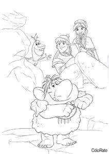 Раскраска Герои Холодного сердца - Холодное сердце