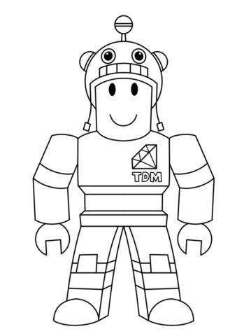 Бесплатная раскраска Герой в костюме робота распечатать и скачать - Роблокс