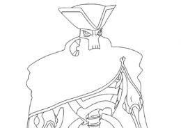 Голден Боунс (Зак Шторм) разукрашка для печати на А4