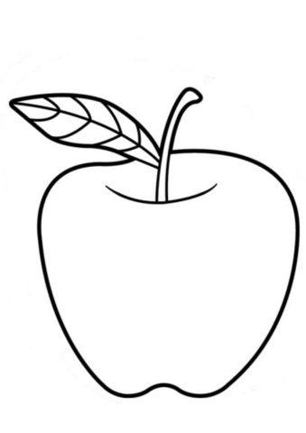 Голден делишес бесплатная раскраска - Яблоко