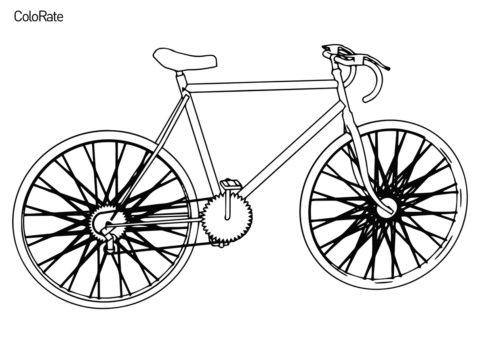 Велосипеды распечатать раскраску - Городской велосипед