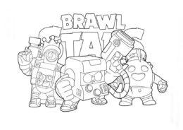 Грозные воины - Браво Старс распечатать раскраску на А4