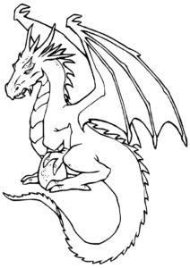 Грозный дракон (Драконы) распечатать разукрашку