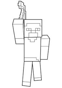 Майнкрафт распечатать раскраску на А4 - Хиробрин - легенда Minecraft