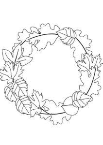 Раскраска Хоровод осенних листьев распечатать на А4 и скачать - Листья