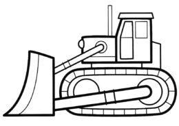 Раскраска Игрушечный бульдозер - Трактора