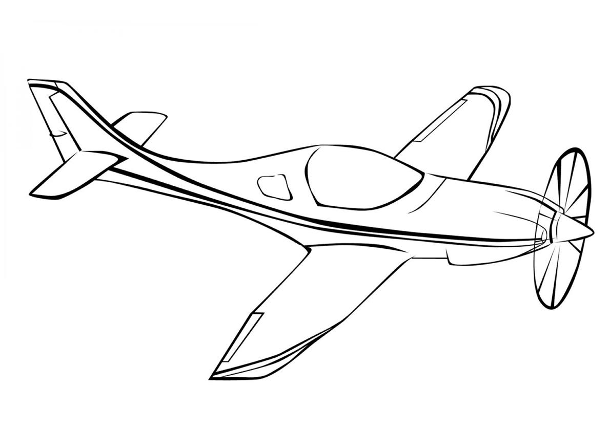 Раскраска Игрушечный самолетик распечатать | Самолеты
