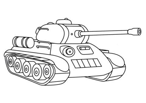 Танки распечатать раскраску - Игрушечный танк