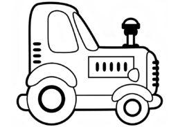 Игрушечный трактор - Трактора бесплатная раскраска