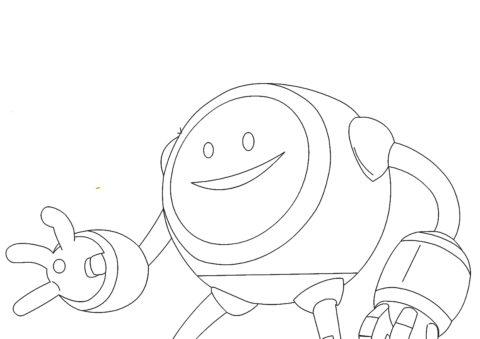 Инопланетянин Карамба - Зак Шторм распечатать раскраску на А4